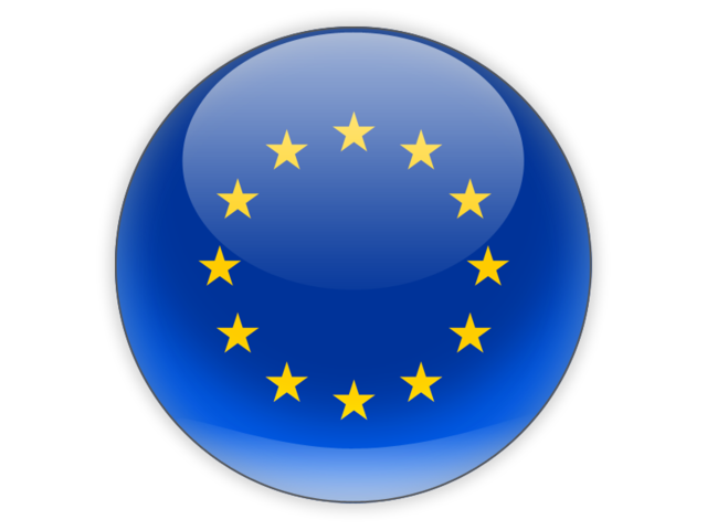 european union round Logo