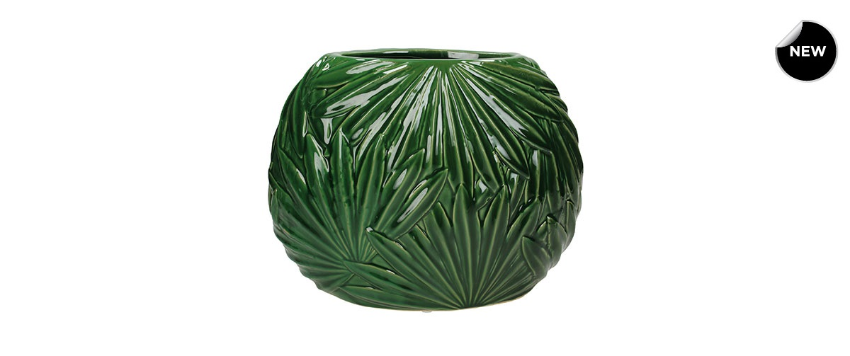 Βάζο Palm Leaf Fine Green