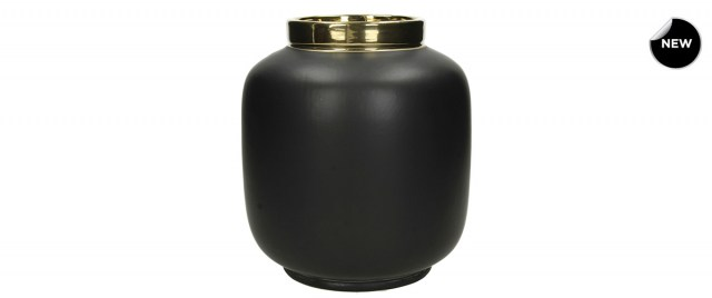 Fine Earthenware Black vase